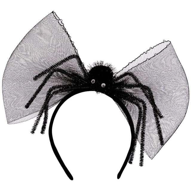Opaska party Wielki pająk i kokarda czarna Carnival Toys