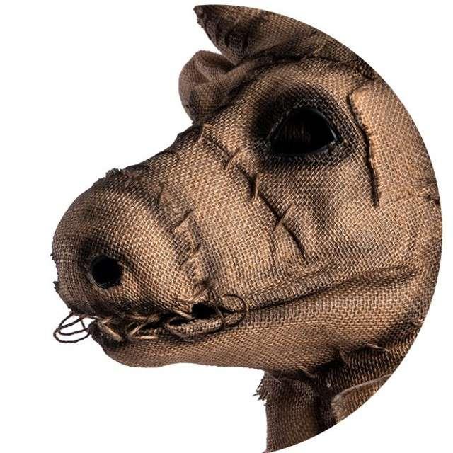 Maska Byk z horroru brązowa jutowa Carnival Toys
