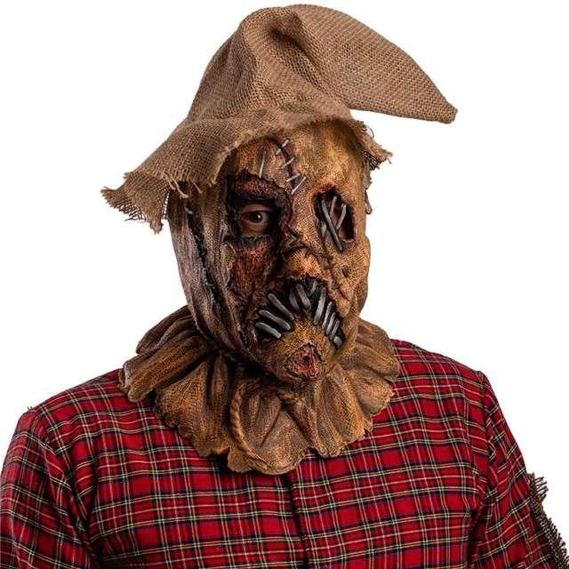 "Maska ""Strach na wróble"", brązowa, lateksowa, Carnival Toys"