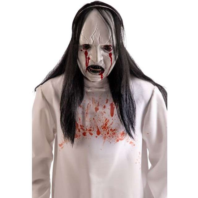 """Maska """"Potwór z włosami"""", biała, plastikowa, Carnival Toys"""