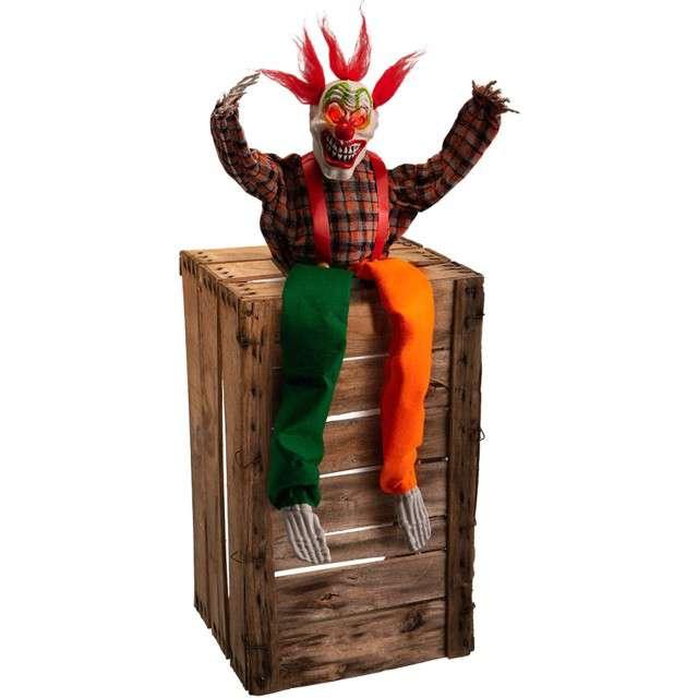 """Dekoracja """"Szkielet Klauna na skrzyni"""", Carnival Toys"""