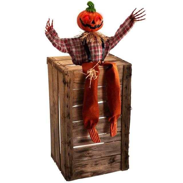 Dekoracja Szkielet dyni na skrzyni Carnival Toys