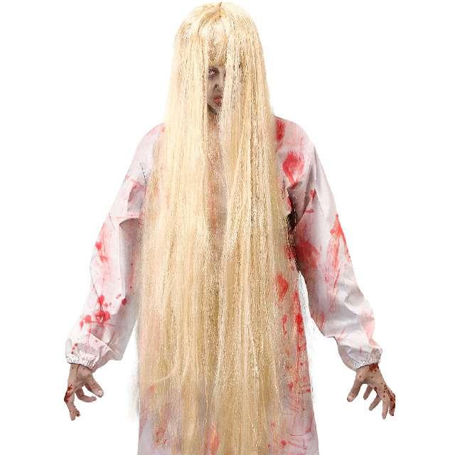 """Peruka """"Dziewczynka z horroru"""", blond, Widmann"""