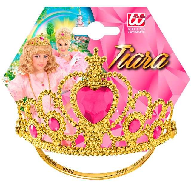 Korona party Tiara z różowym klejnotem złota Widmann