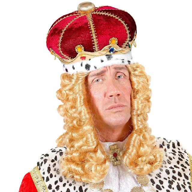 Korona party Królwska z klejnotami czerwona Widmann