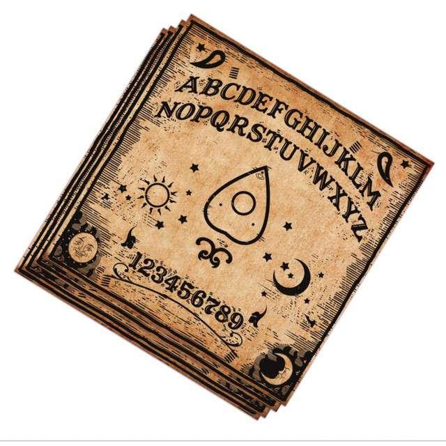 "Serwetki ""Ouija diabelska plansza"", Guirca, 33 cm, 20 szt"