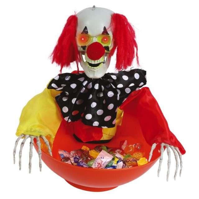 "Dekoracja ""Miska klauna Halloween"", Guirca"