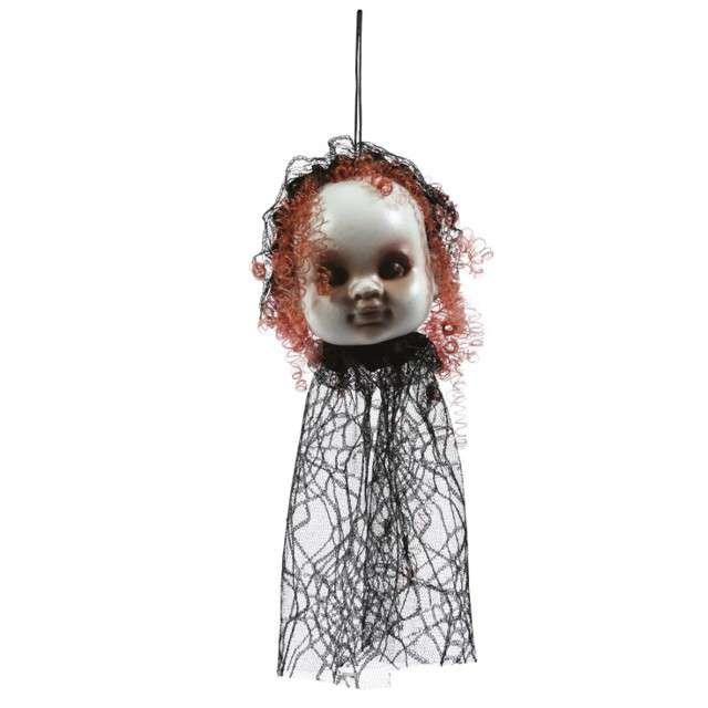 """Dekoracja """"Wisząca głowa lalki"""",  Guirca"""