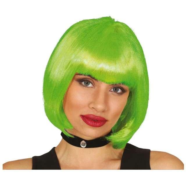 """Peruka party """"Bob z grzywką"""", zielona, Guirca"""