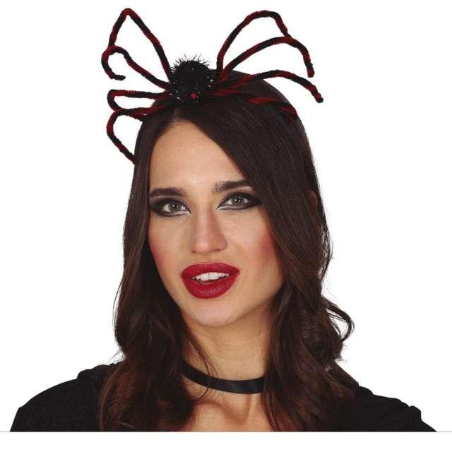 """Opaska party """"Pająk"""", czarno-czerwona, Guirca"""