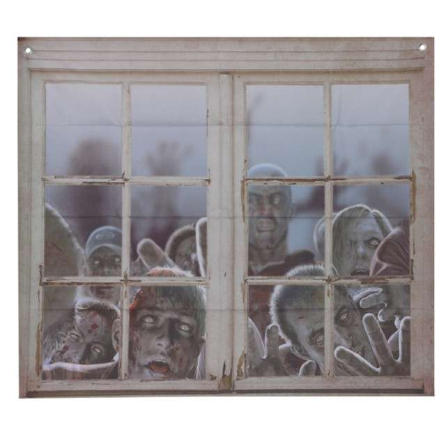 """Dekoracja na okno """"Zombie"""", Guirca, 80X90 cm"""