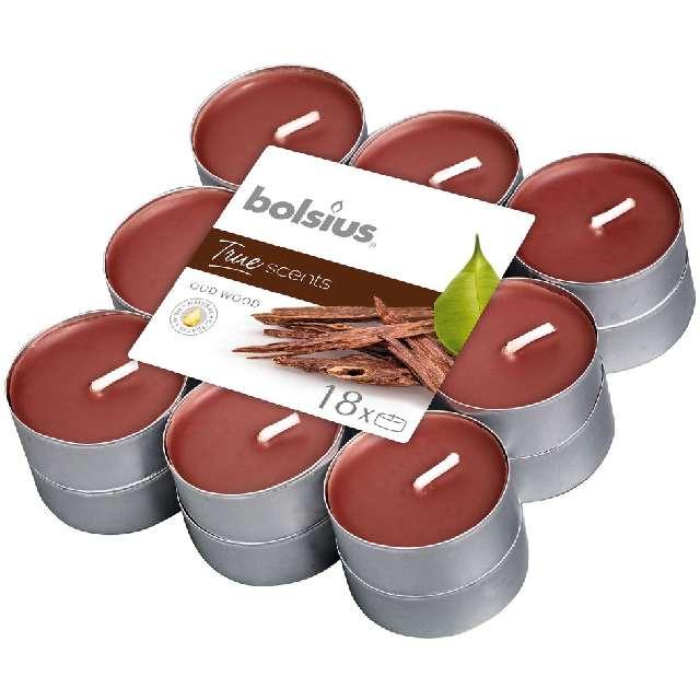 Podgrzewacz zapachowy True Scents - Drzewo Agarowe Bolsius 4h 18 szt