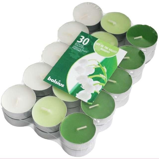 Podgrzewacz zapachowy Miks kolorów - Konwalia zielony Bolsius 4h 30 szt