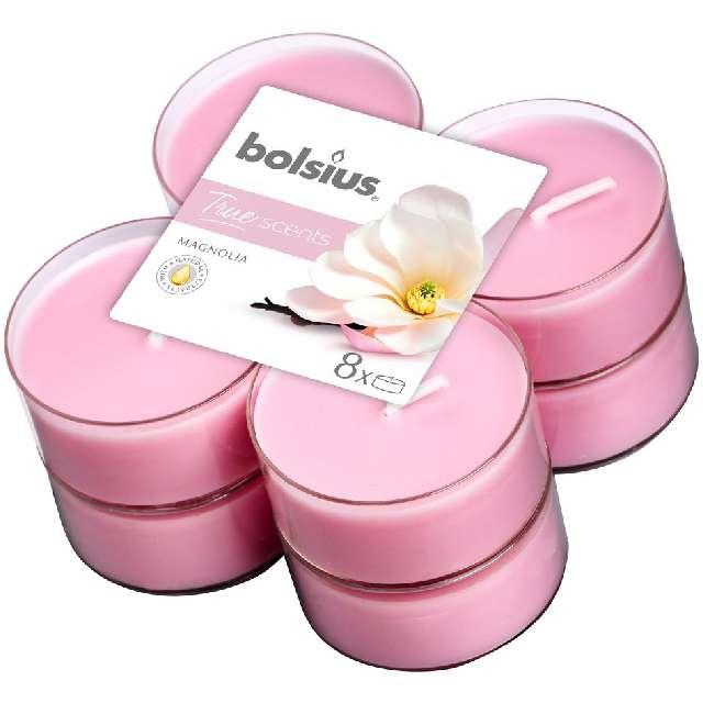 """Podgrzewacz zapachowy """"Magnolia"""", różowy, Bolsius, 8h, 8 szt"""