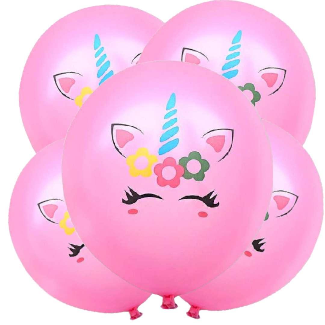 Balony Magiczny jednorożec różowe DekoracjePolska 12 5 szt
