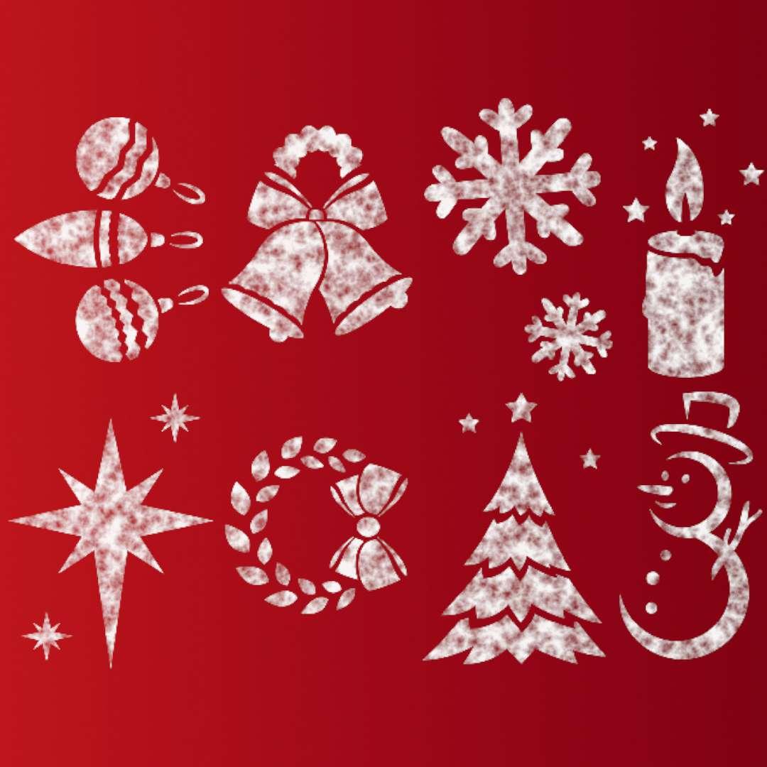 """Szablony dekoracyjne """"Boże Narodzenie"""", ARPEX, 8 szt"""