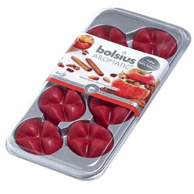 """Wosk zapachowy """"Płatki - Aromatic"""", pieczone jabłko, Bolsius, 8 szt"""