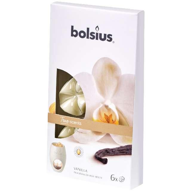 """Wosk zapachowy """"Płatki - True Scents"""", wanillia,, Bolsius, 6 szt"""