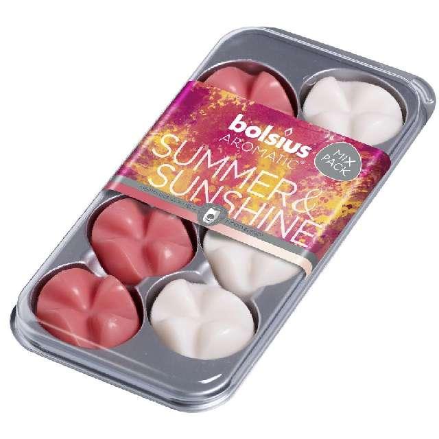 """Wosk zapachowy """"Płatki - Aromatic mix"""", letni zapach, Bolsius, 8 szt"""
