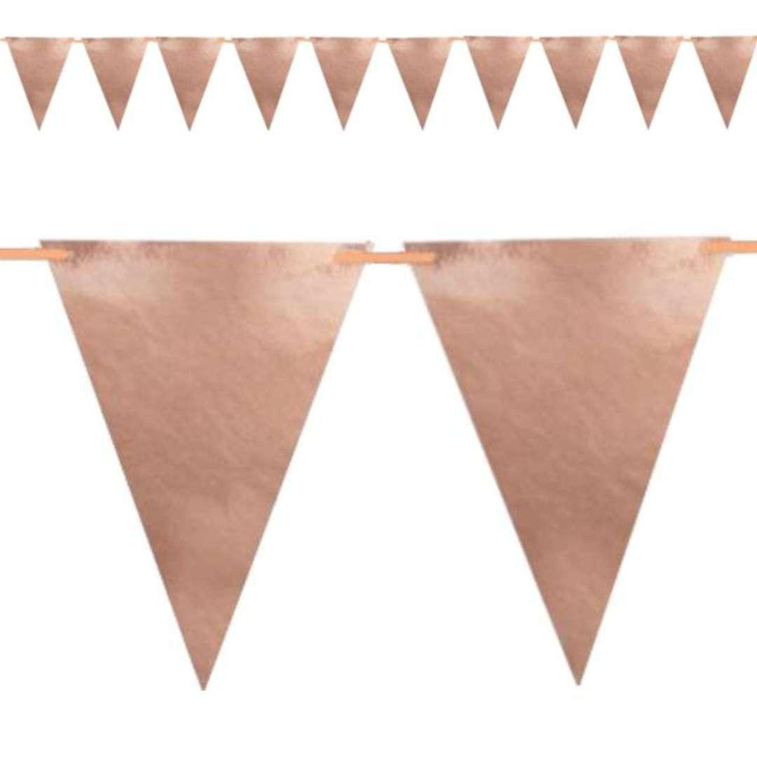 """Baner flagi """"Classic"""", różowe złoto, DekoracjePolska, 160 cm"""