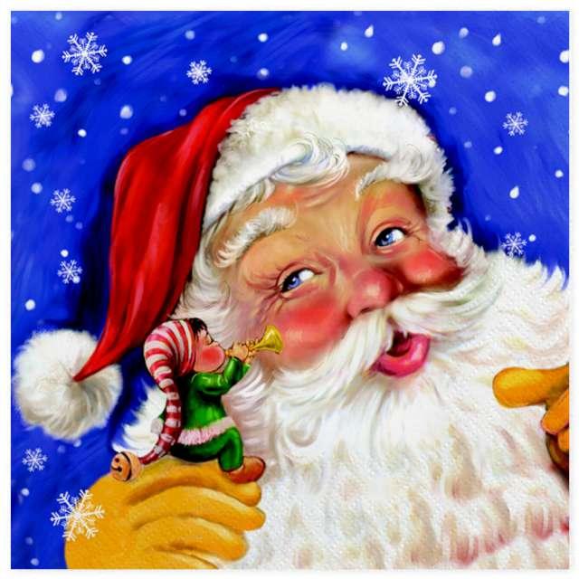 Serwetki Święty Mikołaj i elf Maki 33 cm 20 szt