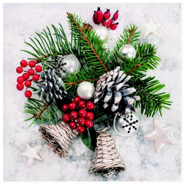 Serwetki Dekoracja świąteczna Maki 33 cm 20 szt
