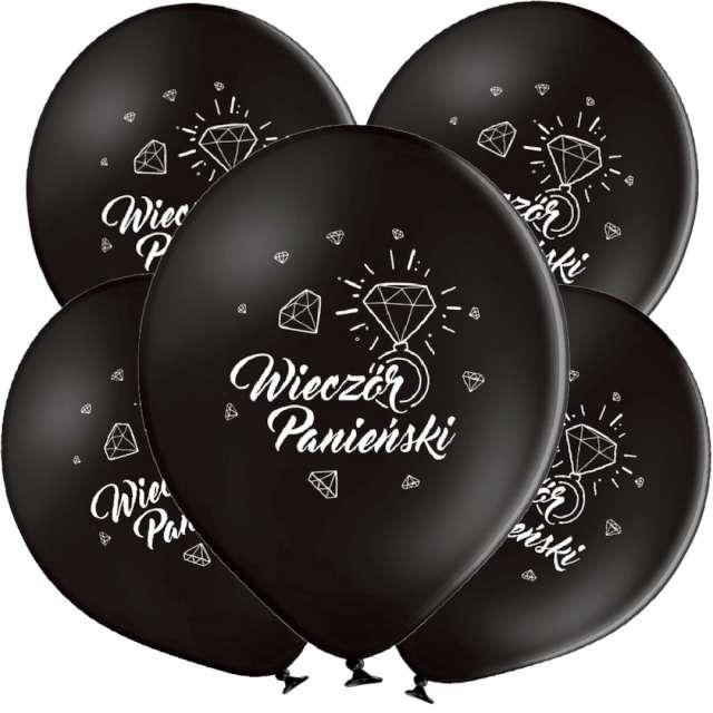 _xx_B-Balloons Balon Czarny z nadr. Wieczór Panie