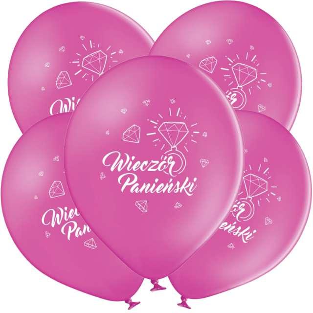"""Balony """"Wieczór Panieński"""", różowe, Grabo, 12"""", 5 szt"""
