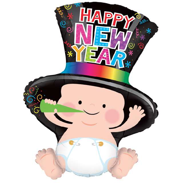 Balon foliowy Happy New Year Grabo 31 SHP