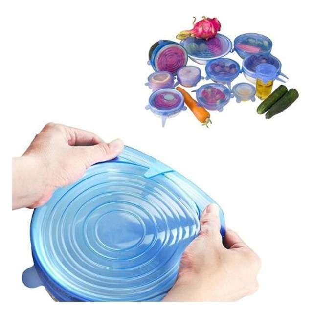 Pokrywki silikonowe Zdrowa żywność GadgetMaster 6 szt