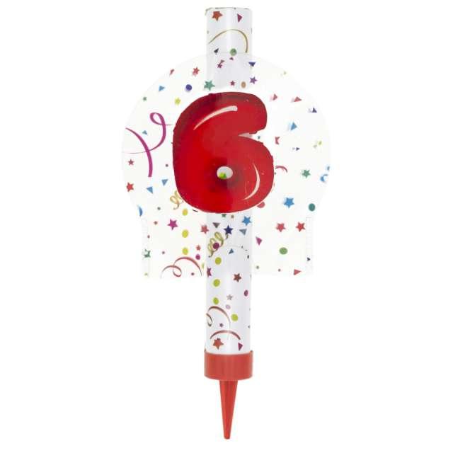 Fontanna tortowa 6 Urodziny - kolorowe Partypal 12 cm