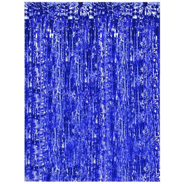 """Kurtyna na drzwi """"Classic"""", niebieska, Oaktree, 200 x 100 cm"""