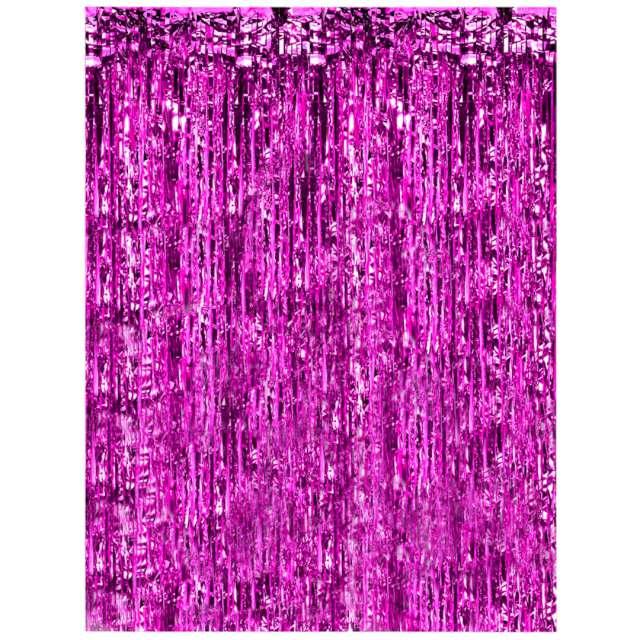Kurtyna na drzwi Classic różowa Oaktree 200 x 100 cm