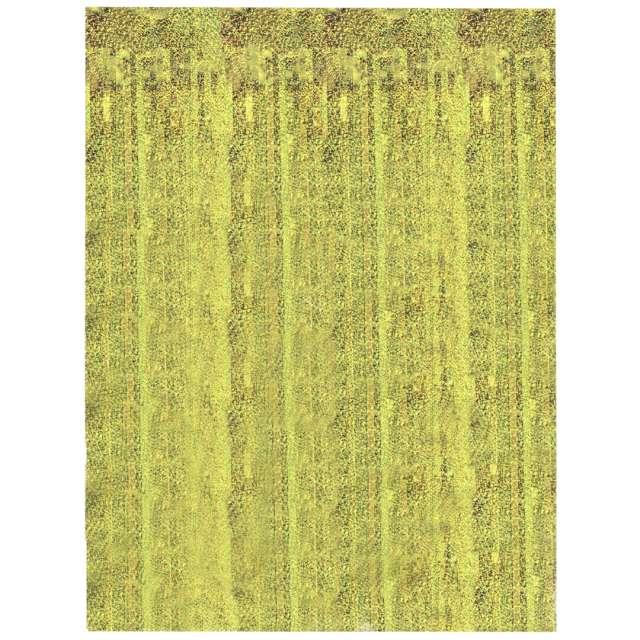 """Kurtyna na drzwi """"Classic"""", złota, Oaktree, 200 x 100 cm"""