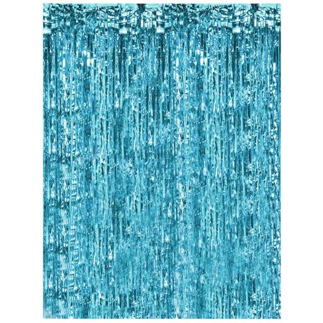 """Kurtyna na drzwi """"Classic"""", błękitna, Oaktree, 200 x 100 cm"""