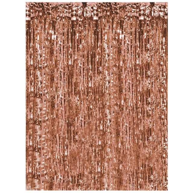 Kurtyna na drzwi Classic różowe złoto Oaktree 200 x 100 cm