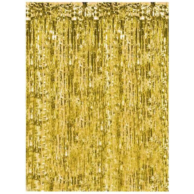 """Kurtyna na drzwi """"Classic"""", złota, PartyPal, 200 x 100 cm"""