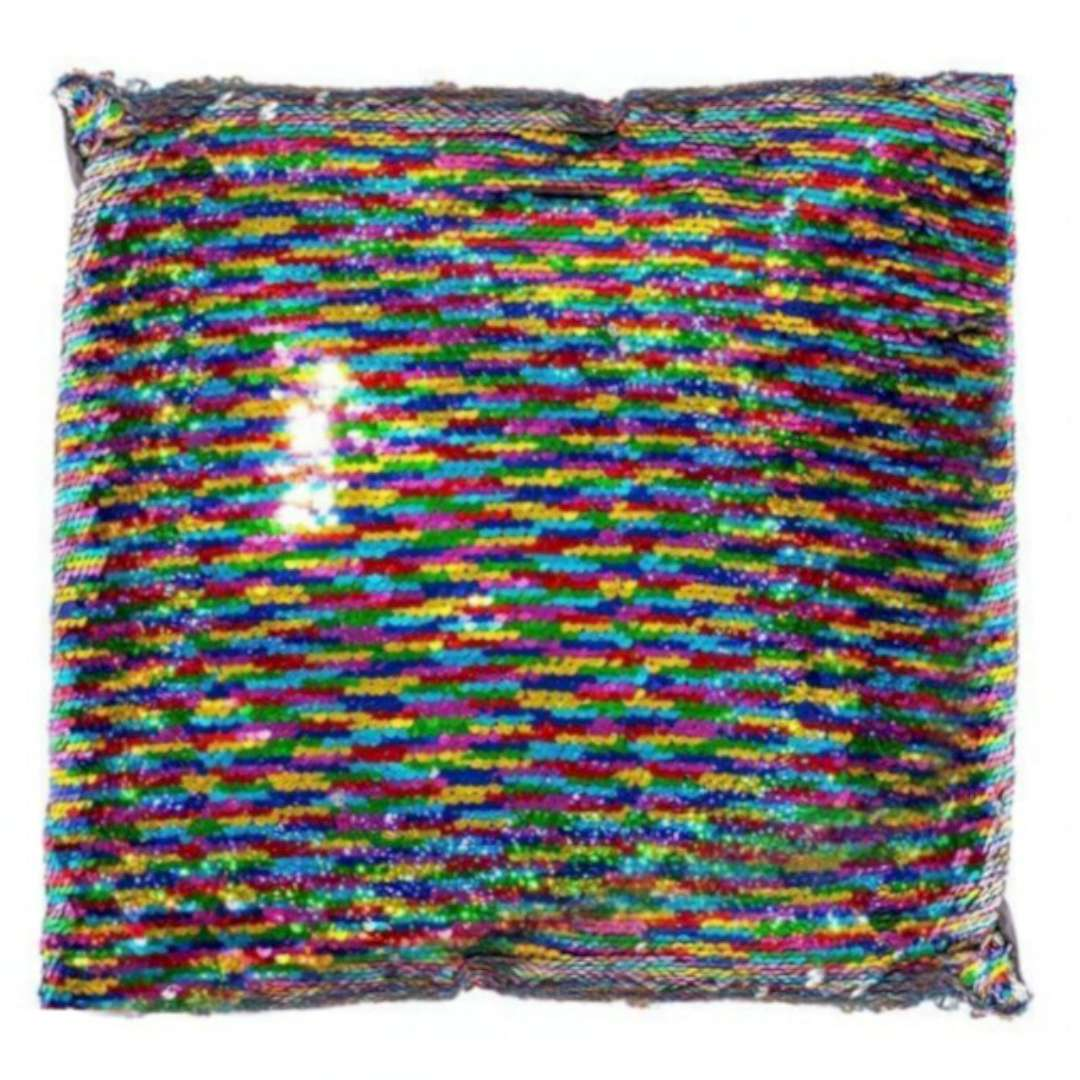 Poduszka Cekinowy kwadrat tęczowa GadgetMaster