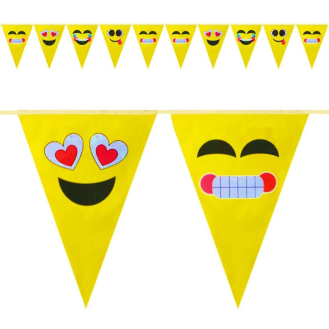 "Baner flagi ""Emotki"", żółty, Partypal, 300 cm"
