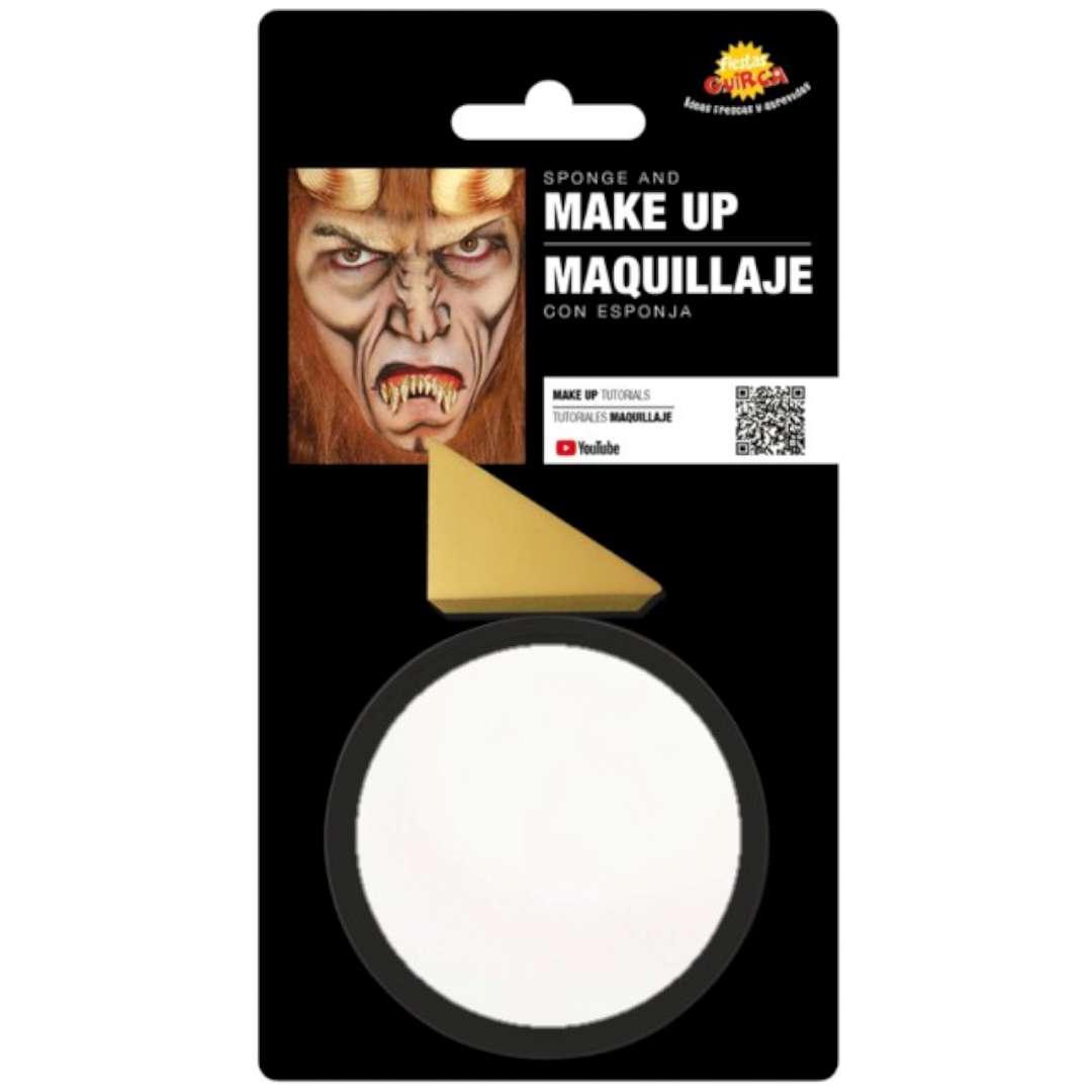 """Make-up party """"Farba do makijażu z gąbeczką"""", biała, GUIRCA"""
