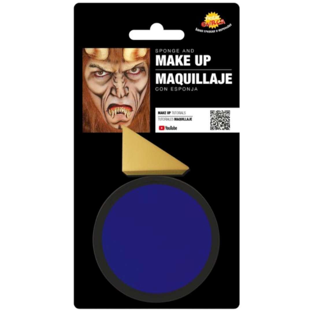 """Make-up party """"Farba do makijażu z gąbeczką"""", niebieska, GUIRCA"""