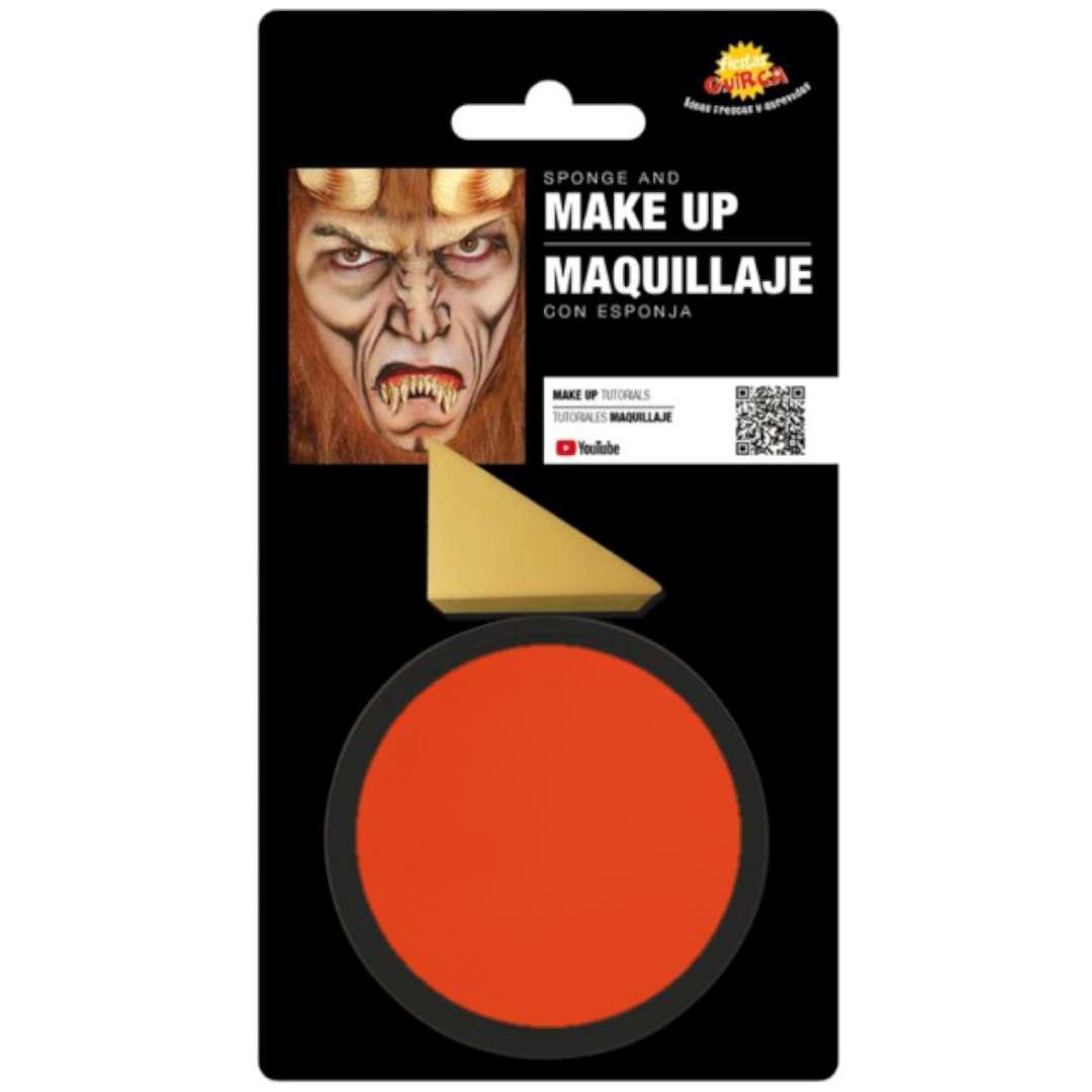 """Make-up party """"Farba do makijażu z gąbeczką"""", pomarańczowa, GUIRCA"""