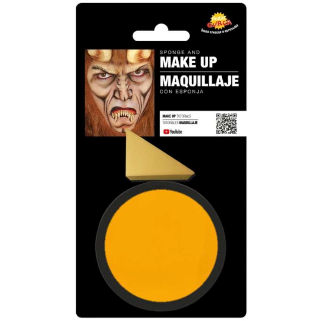 """Make-up party """"Farba do makijażu z gąbeczką"""", żółta, GUIRCA"""