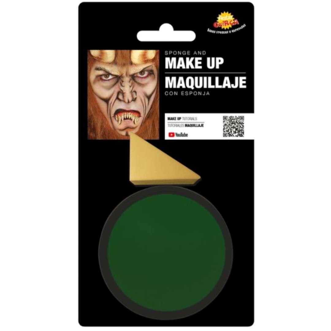 """Make-up party """"Farba do makijażu z gąbeczką"""", zielony, GUIRCA"""
