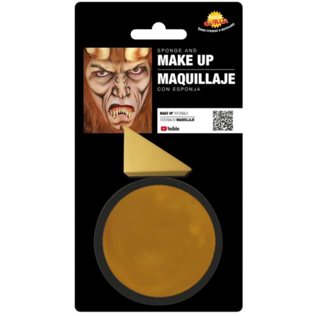 """Make-up party """"Farba do makijażu z gąbeczką"""", złota, GUIRCA"""