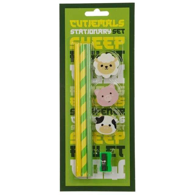Ołówki Domowe zwierzątka z gumką Puckator 3 szt