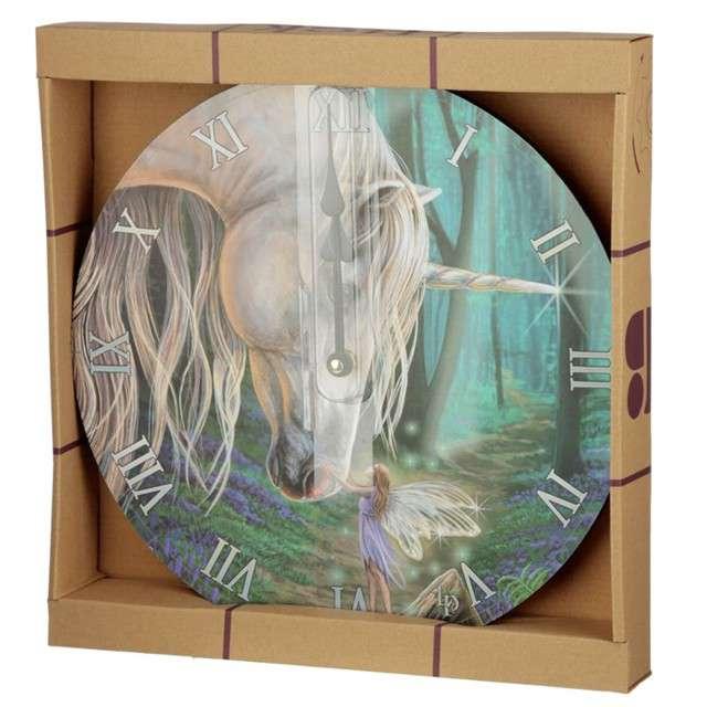 Zegar Jednorożec z wróżką Puckator 29 cm