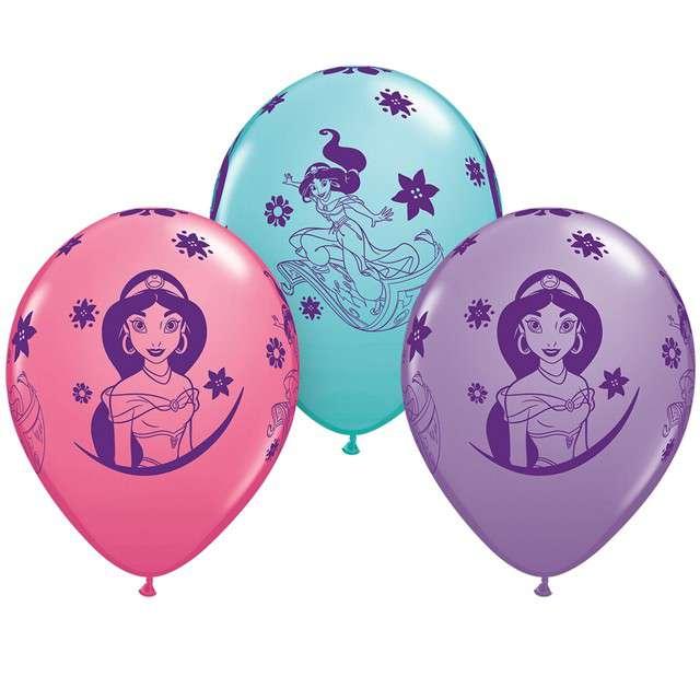 _xx_Balon 11 cali QL RND Princess Jasmine 3 kolory 25 szt.