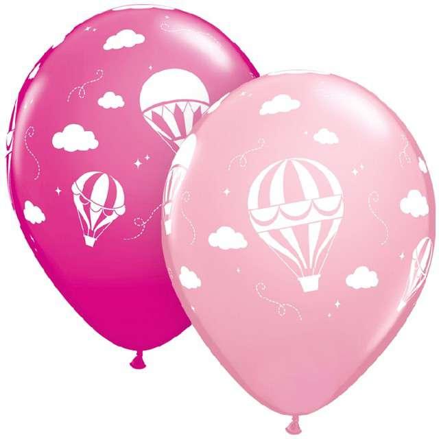 """Balony """"Balony"""", różowe, Qualatex, 11"""", 25 szt."""