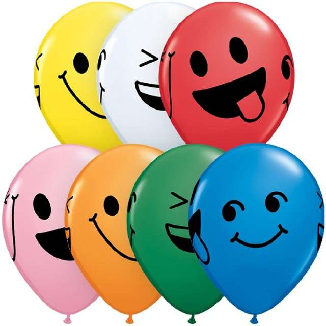 _xx_Balon 11 cali QL z nadr. Smiley Faces/ 25 szt.